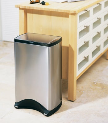 Attractive This Simplehuman Stainless Steel Trash Can Is Perfect For The Modern Luxo  Kitchen, And Improves On The Old Foot Operated Can By Putting  Techno Sensors Where ...