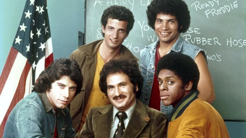 Illustration for article titled 10 episodes that show how Welcome Back, Kotter was like a class in comedy history