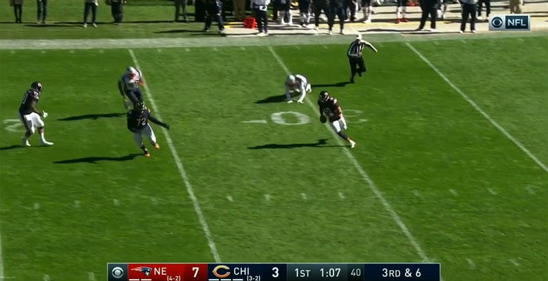 Mitch Trubisky scored on this play.