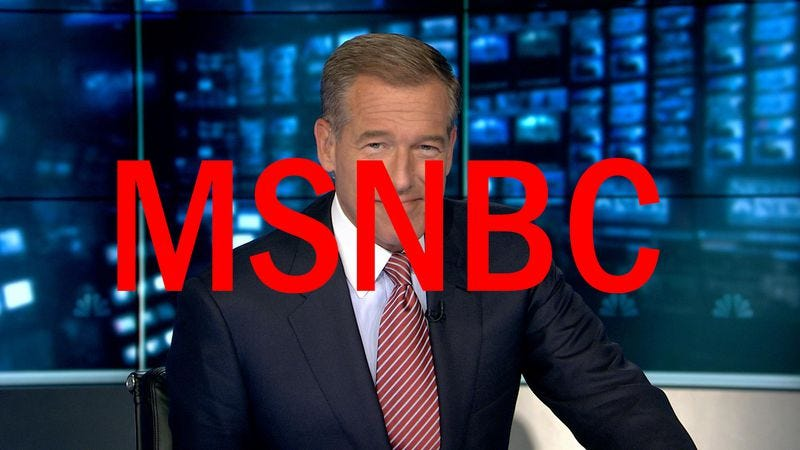 Illustration for article titled Brian Williams to resurface on MSNBC on September 22