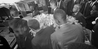 Funeral for victims of the 16th Street Baptist Church bombing in 1963 (Burton McNeely/Getty Images)