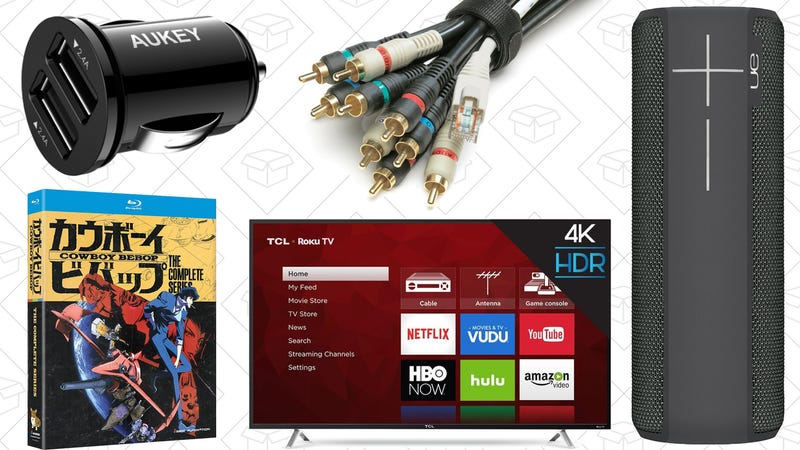 """Illustration for article titled Today's Best Deals: 55"""" TV, Cowboy Bebop, Velcro Cable Ties, and More"""