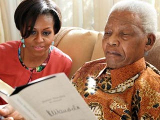 Michelle Obama and Nelson Mandela (MSNBC)