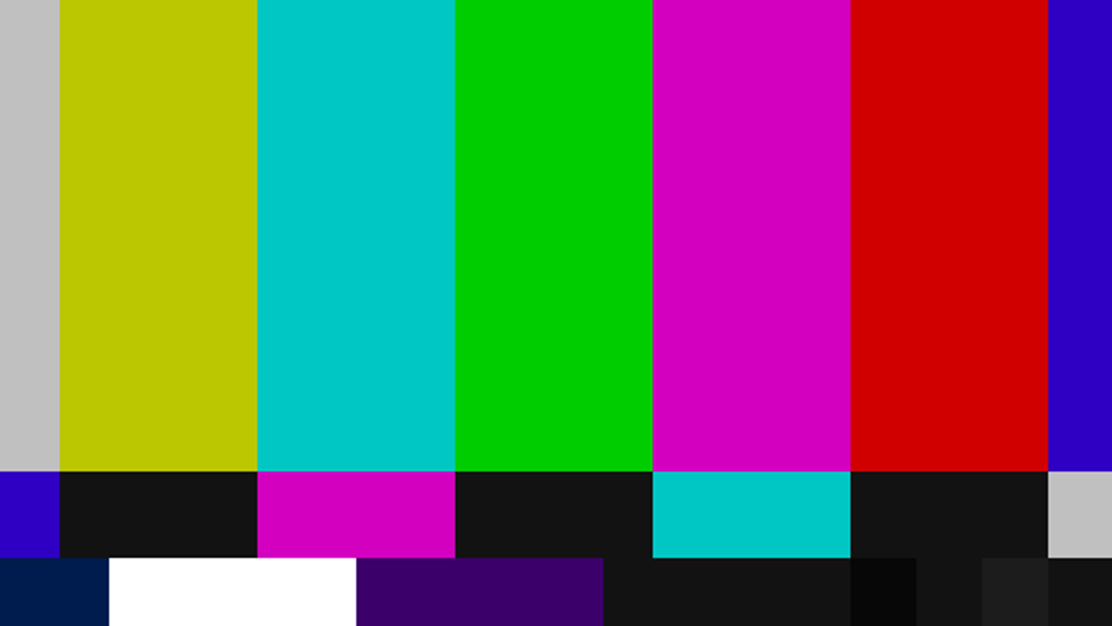 The Origin of Color Bars on TV, and Other Standard Test Files