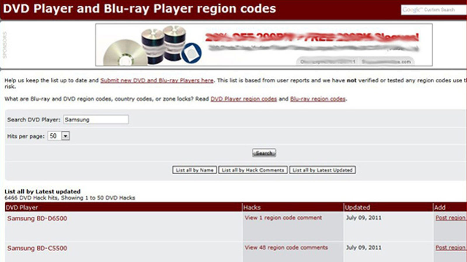 DVD Hacks Database Contains Instructions to Unlock Region