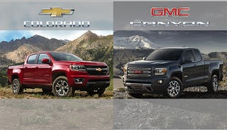 Illustration for article titled Chevy Colorado And GMC Canyon V6 Get Impressive Combined 21 MPG