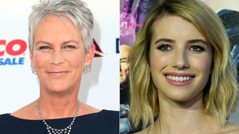 Illustration for article titled Emma Roberts and Jamie Lee Curtis Star in Ryan Murphy's Scream Queens