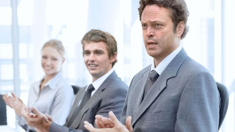 Illustration for article titled Vince Vaughn's Unfinished Business stock photos are pure corporate synergy