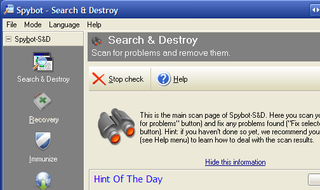 Illustration for article titled Hive Five Winner for Best Malware Removal Tool: Spybot Search & Destroy