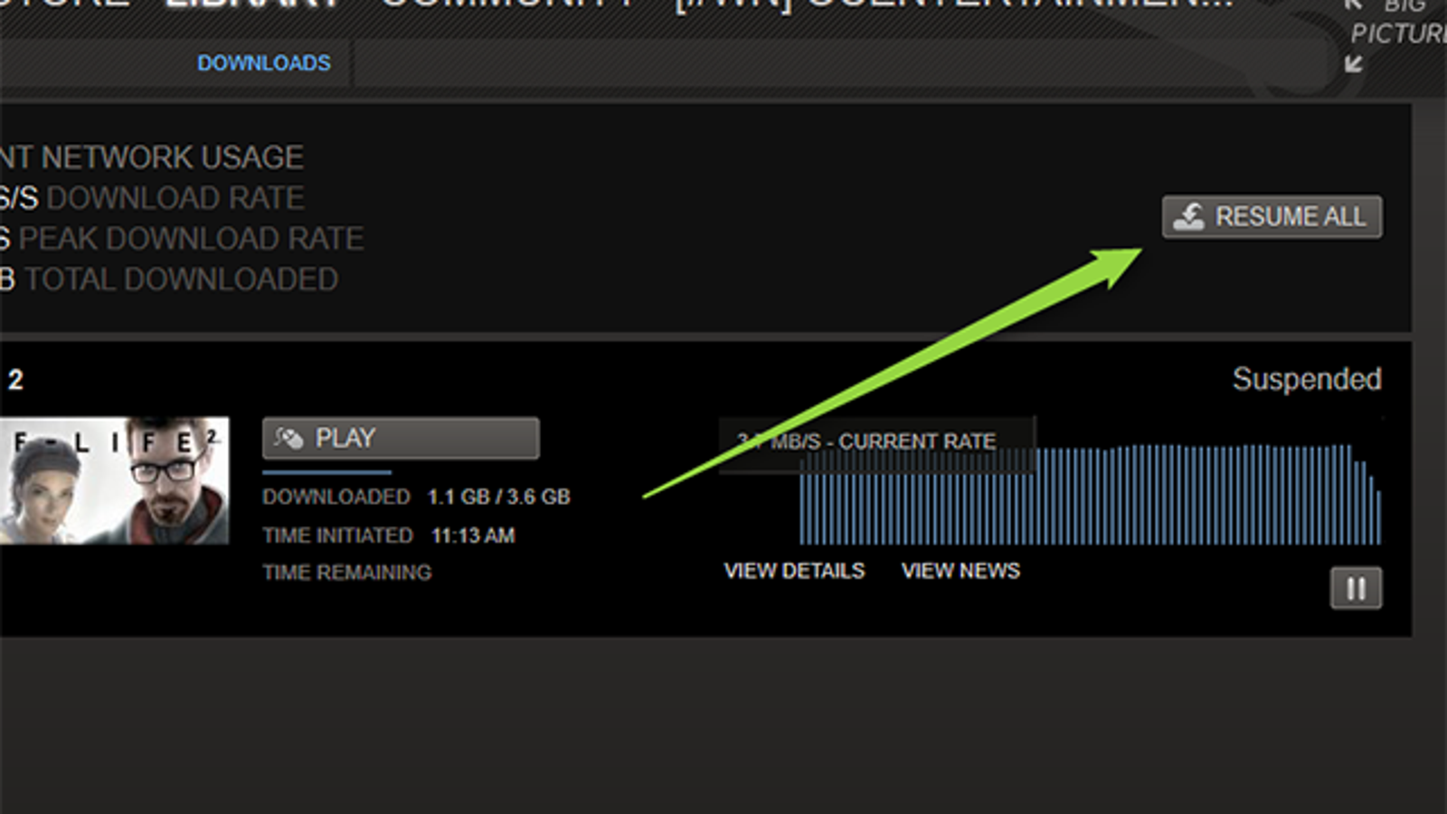 Force Steam to Download and Play Games at the Same Time
