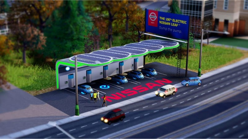 Illustration for article titled This Nissan Leaf Ad Will Fix All Of Sim City's Horrible Problems