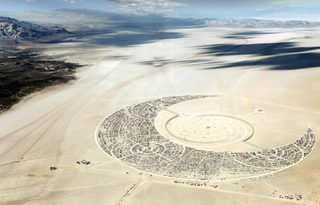 A proposal to redesign Burning Man's Black Rock City as a Navajo mandala, by Sergio Bianchi, Simone Fracasso, and Chiara Pellegrin of Italy