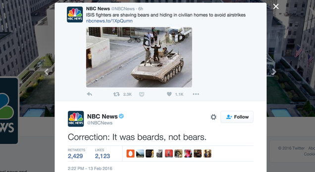 Bears Still Safe From ISISfor Now