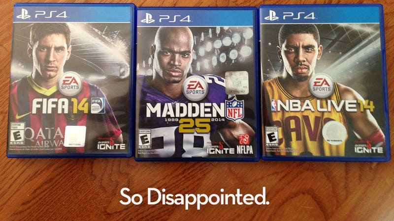 Illustration for article titled EA's Sportsbros Are Very Disappointed In You