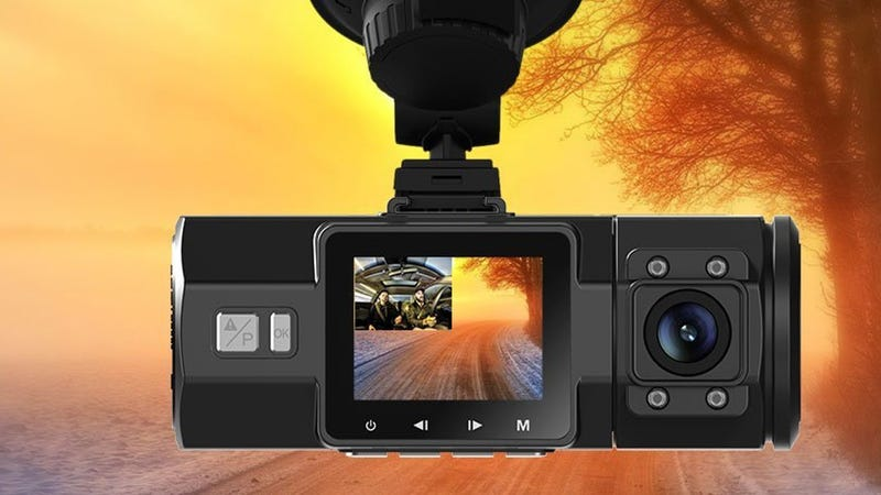 Illustration for article titled This Dash Cam Looks Forwards, Backwards, and All Around