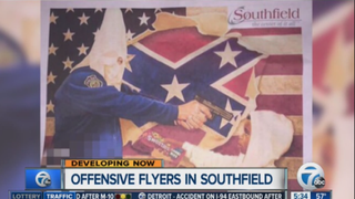 Fliers like the one above began popping up in a Southfield, Mich., neighborhood Aug. 23, 2015. WXYZ Screenshot