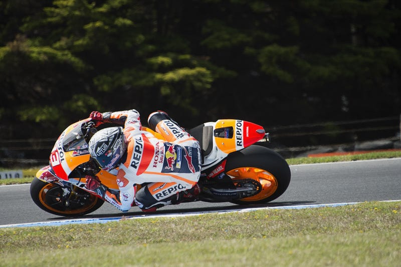 Marquez testing at Phillip Island. Photo: Getty Images