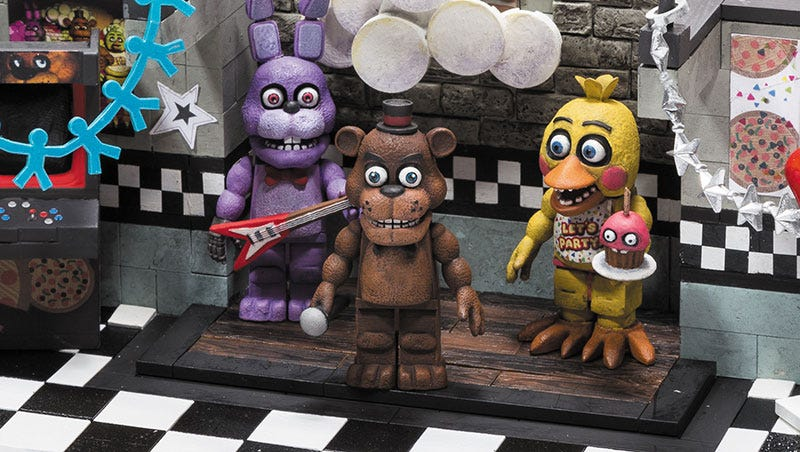 Illustration for article titled Five Nights At Freddy's Building Sets Coming From Exactly The Right Toy Company