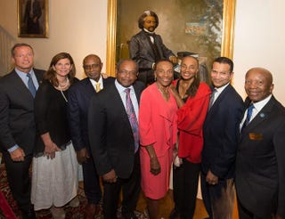 Gov. Martin O'Malley; Maryland's first lady, Katie O'Malley; artist Simmie Knox; Eddie and Sylvia Brown; Susan Taylor, former editor-in-chief of Essence, and her husband, Khephra Burns; and Ted Mack, chairman of the Maryland Commission on African American History and CultureCourtesy of Gov. Martin O'Malley's Office
