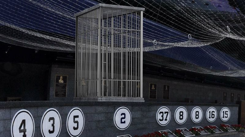 Illustration for article titled Yankees Unveil Beautiful Derek Jeter Cage In Monument Park