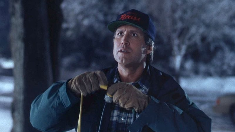 the av club loves the holiday season and we also love opening small doors and eating the stale chocolate lurking behind them - National Lampoon Christmas Vacation