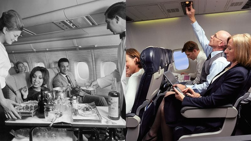 Illustration for article titled Flying Now vs. Flying In The '60s