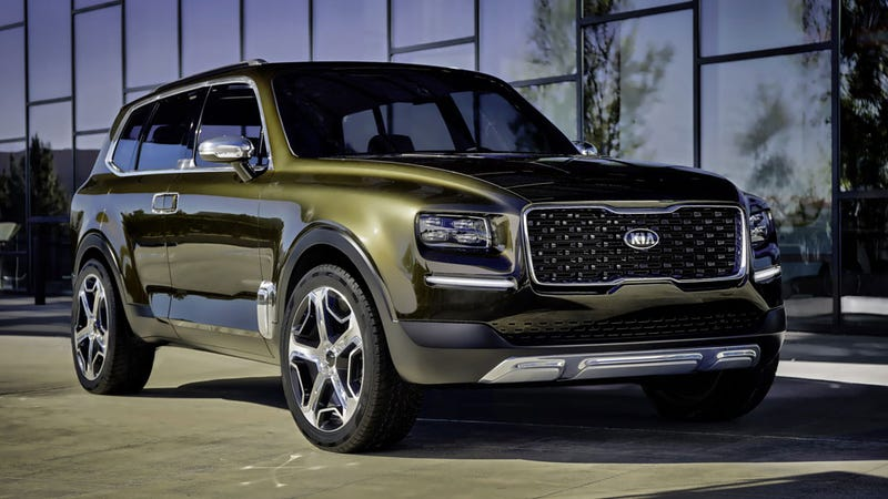 Illustration for article titled Kia's Telluride Concept Merges Great Looks With New-Age Horseshit