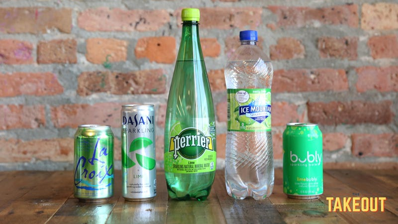 A blind taste test to determine the best lime seltzer