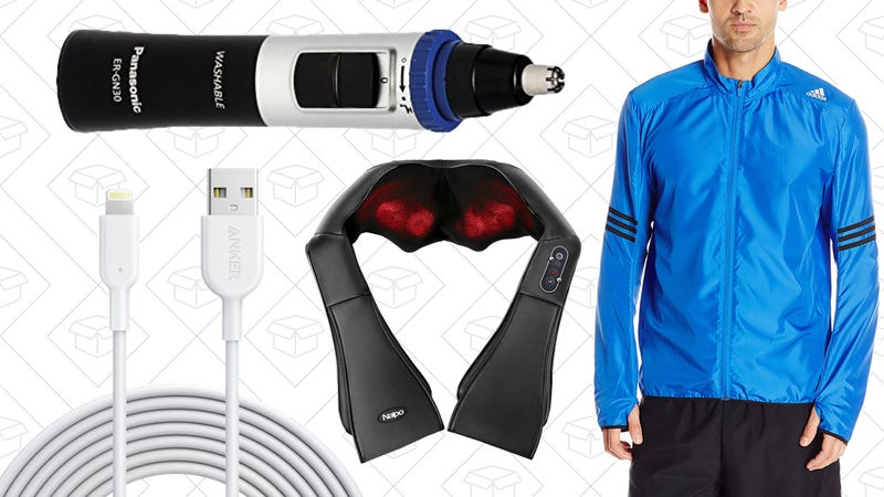 Illustration for article titled Sunday's Best Deals: Adidas Apparel, Anker PowerLine II, Electric Massagers, and More