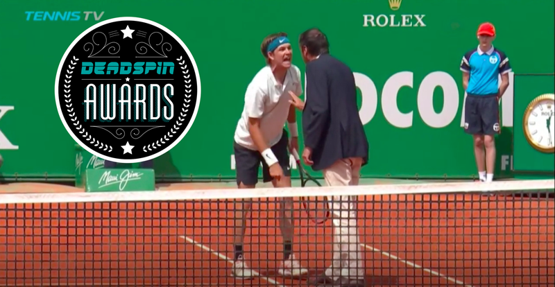 Illustration for article titled Deadspin Awards: Best Tennis Meltdown