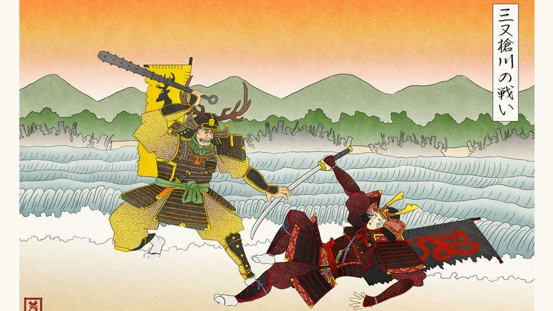 Illustration for article titled Here's what Game Of Thrones would look like if it were set in ancient Japan