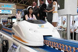 Illustration for article titled One-Person Maglev Car, Like Riding a 300MPH Roller Coaster to Work