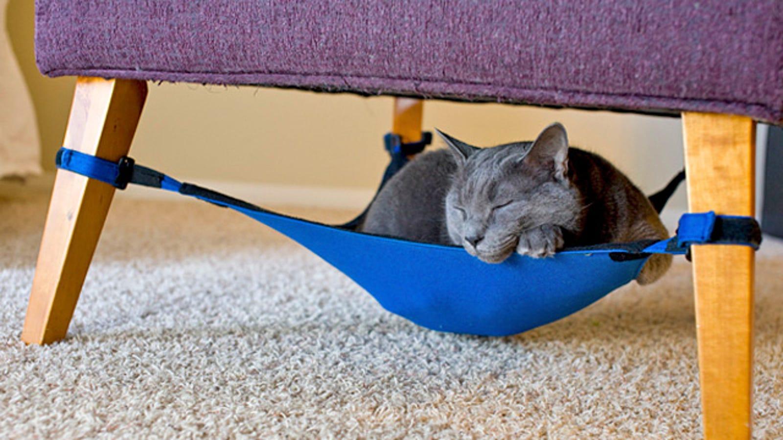 Under Chair Cat Hammock Keeps Fluffy Off The Damn Furniture