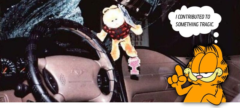 Illustration for article titled Garfield Causes $473,000 Accident, Still Hates Mondays