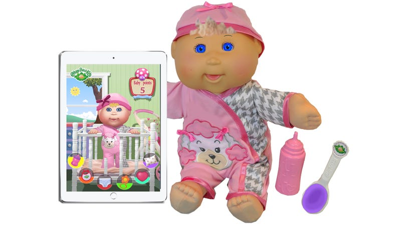 Illustration for article titled Tiny LCD Screen Eyes Make Cabbage Patch Kids Infinitely More Expressive