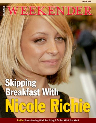 Illustration for article titled Skipping Breakfast With Nicole Richie