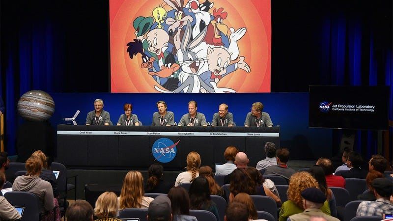 A panel of NASA scientists talking about the Looney Tunes.