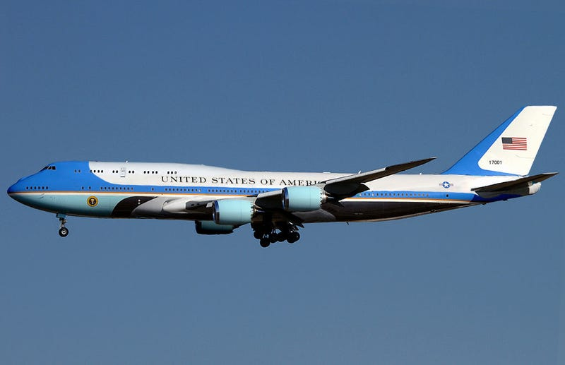What a 747-800 Air Force One might look like