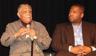 Rev. Joseph Lowery and Atlanta city councilman Caesar Mitchell at the Underground in Atlanta.