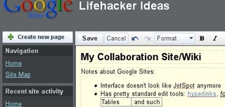 Illustration for article titled JotSpot Relaunches as Google Sites, Offers Similar Wiki-Like Collaboration