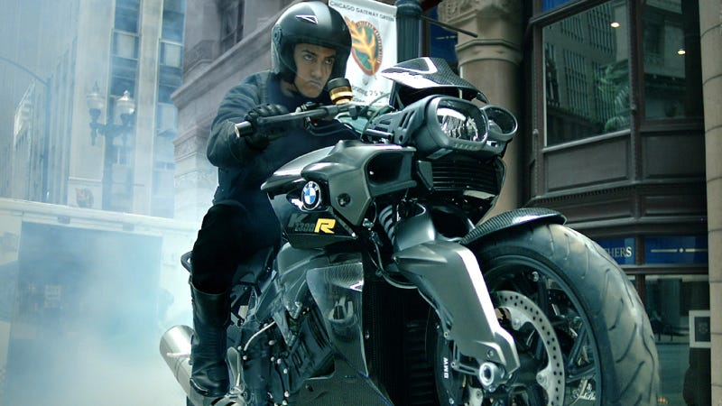 Illustration for article titled BMW Motorrad Is The Exclusive Motorcycle Partner Of Action Thriller Dhoom:3 - Back In Action. Spectacular Stunt Scenes With The BMW S 1000 RR And BMW K 1300 R