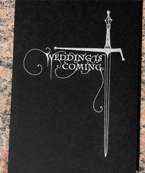 Illustration for article titled GoT Wedding Invites