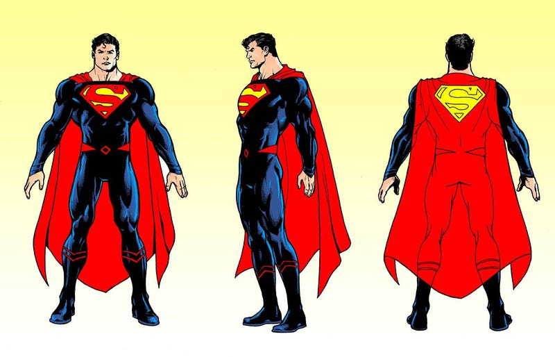 Illustration for article titled Our Best Look at Superman's Snazzy New Comic Book Costume