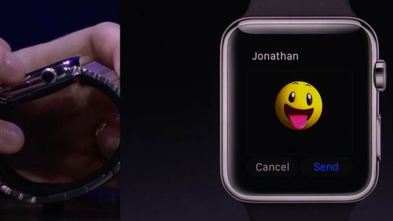 Illustration for article titled Apple introduces animated emoji, wristwatch