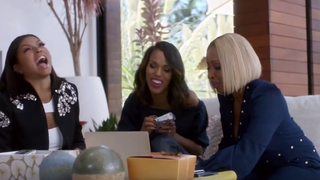Taraji P. Henson, Kerry Washington and Mary J. Blige in a 2015 Apple Music commercialYouTube screenshot