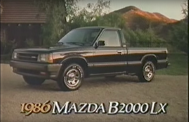 experience the sportiness with a 1986 mazda b2000 lx