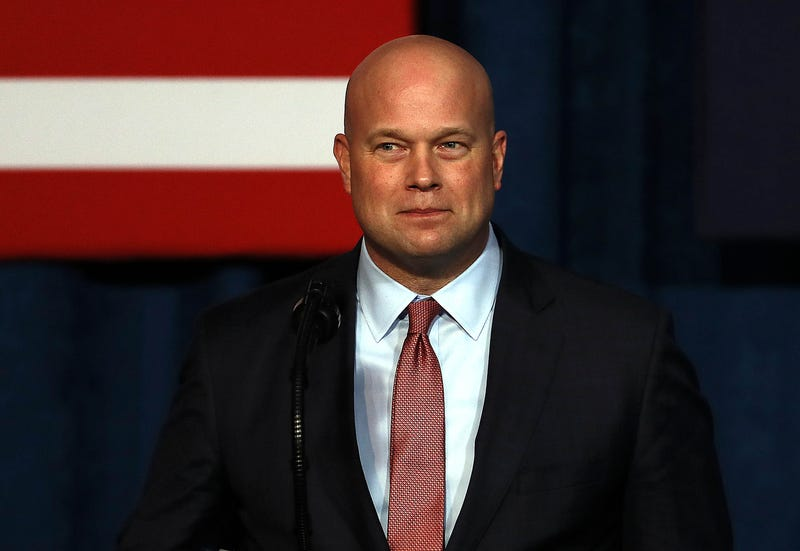 Acting Attorney General Matthew Whitaker addresses the Project Safe Neighborhoods National Conference on December 07, 2018 in Kansas City, Missouri. Trump delivered the closing address speaking about the department's strategy for reducing violent crime.