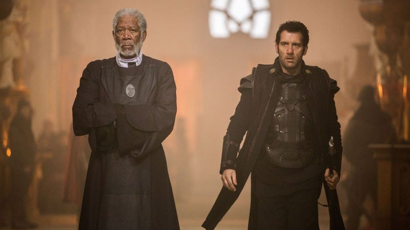 Clive Owen and Morgan Freeman are the Last Knights of this humorless slog