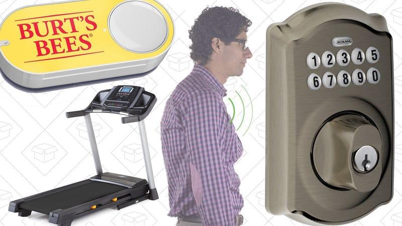 Illustration for article titled Today's Best Deals: Dash Button Blowout, Better Posture, Smarter Deadbolt
