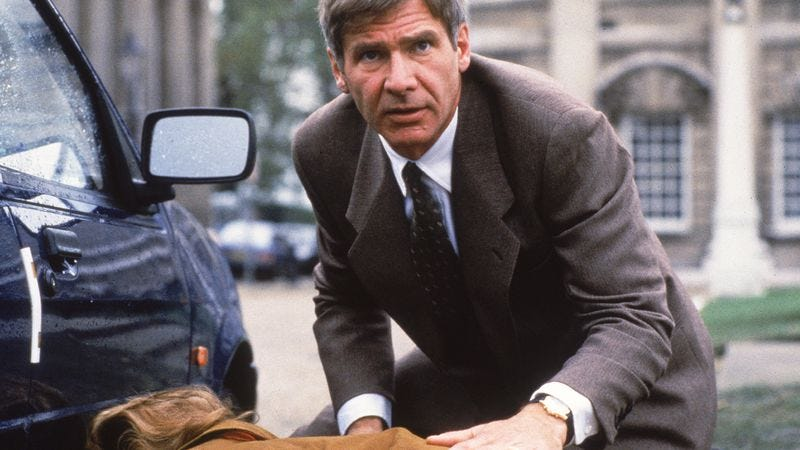 "If we hadn't found this picture by Googling ""Patriot Games,"" we'd be just as confused as you by which possible movie it's from."